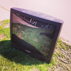 You know the 90s are over when the neighbors tube TV sits on the curb for 5 days.