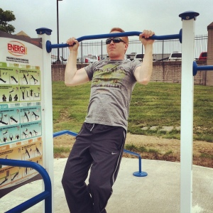 I guess I could spring for a pull up bar so someone could be a real man in the park.